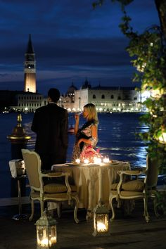 Cocktails overlooking the canal / Hotel Cipriani / Venice, Italy