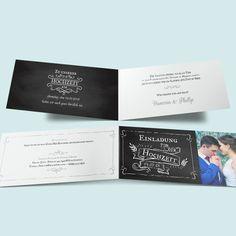 Vintage Hochzeit - Einladungskarten zur Hochzeit im Retro-Look Wordpress, Cards Against Humanity, Cover, Retro, Fancy Wedding Invitations, Fiction, Card Wedding, Blanket, Mid Century