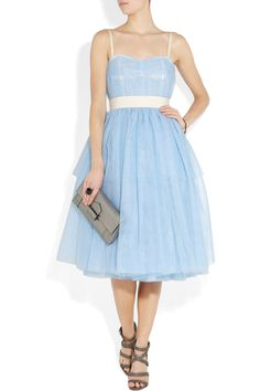 D & G alice in wonderland style dress. Blue tulle, 1950's, so so cute. I love it!  bridesmaids
