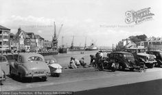 Weymouth, The Harbour c.1955, from Francis Frith