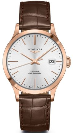 fcc9e2e9e24 The Longines Elegant Collection L4.778.8.12.0, 34.5mm | Products | Watches,  Leather, Watches for men