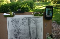 OK, how can it get better? A sunny afternoon in a quiet park, some charcoal sketching and Cannonball Adderley playing on the iPhone. The iPhone's built-in speakers are just right for some not-annoying-for-everyone-else tunes to play whilst scribbling I must admit, I'm actually an apple fanatic. I found this place where I got to test and keep an ipad and iphone, it's cool, check it out...