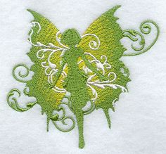 Chartreuse Filigree Fairy design (D6771) from www.Emblibrary.com