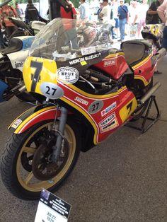 Barry sheens racing Suzuki at Goodwood 2014