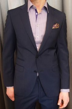T-Concept by Tombolini navy pique wool $895 from Gotstyle Menswear.