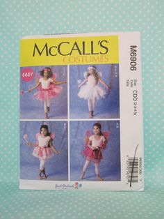 Tutu Costume Toddler Pattern. Easy Fairy Costume Pattern. McCall's 6906. Sz:2-5…