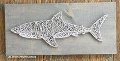 shark ocean fish beach summer great white hammerhead custom string art