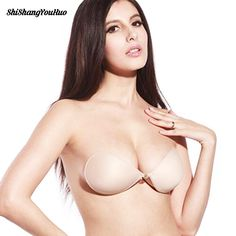 Sexy Women Invisible Push Up Bra Self-Adhesive Silicone Bust Front Closure sticky bra Backless Strapless Bra Women Lingerie, Sexy Lingerie, Backless Bra, Strapless Bras, Sticky Bra, Bra Styles, Push Up, Dame, Sexy Women