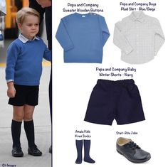 Prince George's outfit for his arrival to Canada, September 24, 2016.