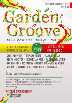 Summer Poster, Reggae, Events, Party, Ska, Parties