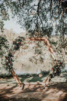 Hexagon Arch P. Wedding Venues, Wedding Ideas, Tree Lighting, Twinkle Lights, Arch, Dream Wedding, Wedding Decorations, Reception, Texas