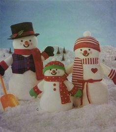 SNOWMAN Sewing Pattern - Holiday Snowmen Family -OOP