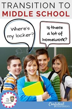 Middle school transitions from elementary school can be stressful for students. They have lots of questions about procedures, academics, and friends. Plan middle school transition activities to help students know what is coming and what to expect. Middle School Counseling, Elementary School Counselor, Elementary Schools, Middle School Activities, World History Teaching, Guidance Lessons, School Community, Homeschool Curriculum, Homeschooling