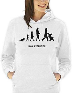 Sudadera con capucha día de la madre-Evolution mom hombre mujer todas las tallas S, M, L XL Camiseta by tshirteria XXL blanco Talla:Small donna #camiseta #starwars #marvel #gift