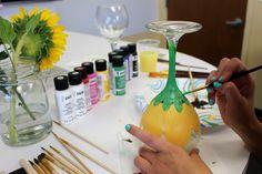 stem-wine-glass-painting-sunflower.jpg (900×600)