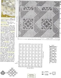47 Ideas De Mantel Con Diseño De Gancho Diseños De Ganchillo Patrón De Ganchillo Cuadrados De Ganchillo