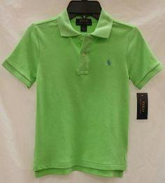Polo by Ralph Lauren - SS Collar, Interlock Cotton Polo Shirt - Aruba Lime - $29.50 - size:  7