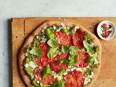 Broccoli Pesto Pizza Recipe : Ellie Krieger : Food Network - FoodNetwork.com