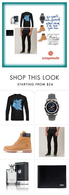 """Snapmade8"" by fatimazbanic ❤ liked on Polyvore featuring Timberland, Volcom, Bulgari, Dolce&Gabbana, men's fashion and menswear"