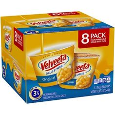 Full Velveeta cheese flavor without the wait. Each cup contains our signature Velveeta Shells & Cheese Pasta, made with real cheese, miniaturized into Velveeta Cheese Sauce, Velveeta Shells And Cheese, Cheese Sauce For Pasta, Cheese Stuffed Shells, Cheese Cultures, On The Go Snacks, How To Make Cheese, Natural Flavors, Gourmet Recipes