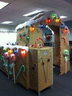 office holiday decor. cubicle decorating contest gingerbread office holiday decor d