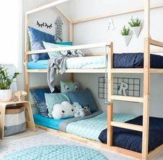 Super baby bedroom ideas for boys kura bed ideas Girls Bunk Beds, Cool Bunk Beds, Kid Beds, Baby Bedroom, Baby Boy Rooms, Girls Bedroom, Bedroom Ideas, Nursery Boy, Bedroom Decor