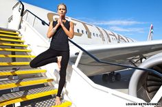 plane yoga- Okay, some of these are crazy and i would never do them on a plane in front of others but some are pretty subtle and will help while traveling.