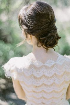 Beautifully intricate Claire Pettibone gown: http://www.stylemepretty.com/california-weddings/2014/11/13/claire-pettibone-butterfly-garden-bridal-shoot/ | Photography: Exquisitrie By Kelly Sauer - www.exquisitrie.com/