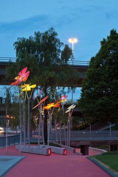 Garscube Landscape Link by RankinFraser Landscape Architecture and 7N Architects - Glasgow, Scotland