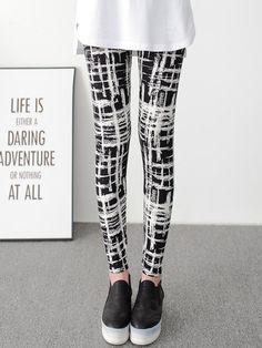 a1a7d305d99b1e Shop Leggings - Black Casual Printed Legging online. Discover unique  designers fashion at PopJuLia.