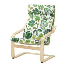 IKEA - POÄNG, Cuscino per poltrona, Simmarp verde, , La fodera è facile da tenere pulita poiché è asportabile e lavabile in lavatrice.