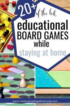 20+ of the Best Educational Board Games While Staying at Home — Creative Reading Adventures Kids Activities At Home, Fun Games For Kids, Educational Board Games, Reading Adventure, Family Fun Night, Sight Word Practice, Reading Games, Family Board Games, Math Facts
