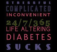 All of these words apply.  Living with Type 1 Diabetes is not easy at all... it actually does SUCK!