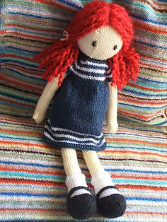 Free! - Ravelry: marico's Sally ||| doll, girl, knit, pattern