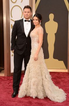 One of my favourite couples <3 Channing Tatum & Jenna Dewan at the Oscars 2014