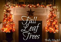 Fall Leaf Trees with tutorial - they are so easy to make and inexpensive as well!