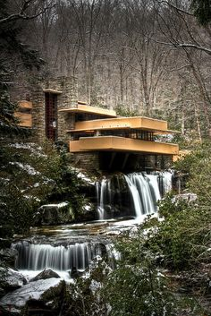 Waterfall House by Frank Lloyd Wright