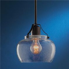 Modern Industrial Glass Pendant - This or something similar for the dining room $75