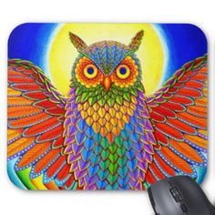 Give your mouse something cool to look at with a mousepad from Zazzle featuring my colorful original artwork!  They are made of a dust and stain-resistant high quality cloth over a non-slip backing. The mousepads come in two configurations: vertical and horizontal.  My designs can be found on both styles.  They measure 9.25″ x 7.75″.  These colorful mousepads can liven up your office or make a great gift!