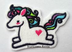 Unicorn Hair Accessory/Brooch/Patch - The Supermums Craft Fair
