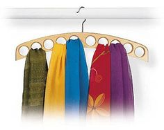 10-Hole Scarf Hanger - Set of 2 by Richards Homewares $11.59