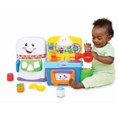 Fisher-Price Laugh and Learn: Learning Kitchen. Recommended age: 6 months - 3 years. Read more at http://www.toys-zone.com/fisher-price-laugh-learn-learning-kitchen/