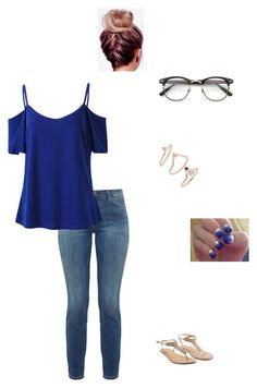 """""""Today's been pretty great💙"""" by modest-flute ❤ liked on Polyvore featuring Current/Elliott, Topshop and SoGloss"""