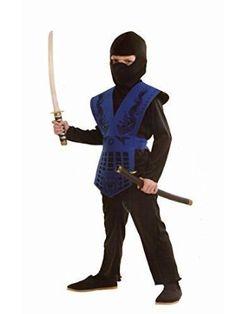 Kids Mortal Combat Ninja Costume 6-8 Years Sub Zero Fancy Dress Streetfighter