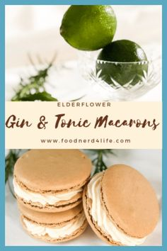 Appetizer Recipes, Dessert Recipes, Gin Recipes Food, Yummy Recipes, Cookie Recipes, Desserts, Macarons, Cocktails, Party Drinks