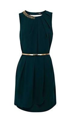 Paloma Emerald Embellished Dress