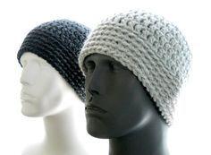 CROCHET PATTERN: The Chunky Guy Beanie for Men Hat by HatsbyElvee
