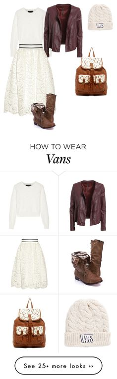 """""""Fall2"""" by sunny1004 on Polyvore featuring Line, Manila Grace, Alice + Olivia, T-shirt & Jeans and Vans"""