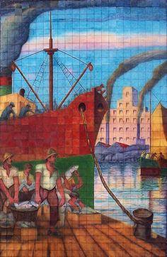 Benito Quinquela Martín.- Fish Monger, Watercolor, History, Llamas, Tango, Masters, Paintings, Gone Fishing, Youth Activities