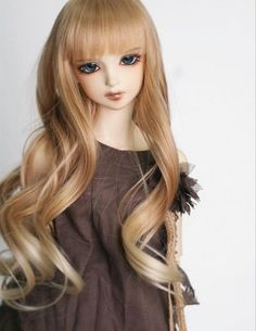 "New 1/3 BJD/SD Doll Wig High Temperature Silk Hair BJD Dollfie 8""-9"" FA37 in Dolls & Bears, Dolls, By Brand, Company, Character 
